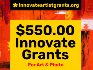 $550.00 Innovate Grants for Artists + Photographers